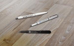 Realizzazione gadget personalizzati, come queste penne