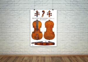 Poster violini Antonio Stradivari